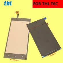 """For THL T6C LCD Display +Touch Screen+ Tools  Digitizer Assembly Replacement Accessories For Phone T6 C  5.0"""""""