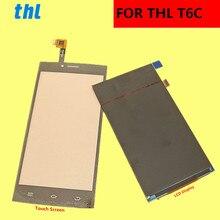 """THL T6C LCD ekran + dokunmatik ekran + araçları Digitizer meclisi yedek aksesuarlar telefon T6 C 5.0"""""""