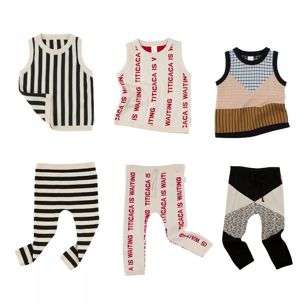 2017 autumn winter letter knited vest and pants striped vest for baby boys girls kids set shoes woman flock metal decoration pumps high heels sandals slip on pointed toe shoes shallow balck red pink gray khaki green
