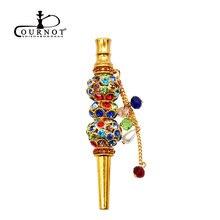 COURNOT Handmade Inlaid Jewelry Hookah Mouthpiece Metal Shisha Mouth Tips Sheesha