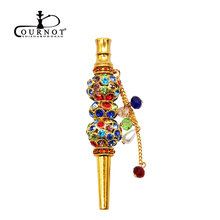 COURNOT Handmade Inlaid Jewelry Hookah Mouthpiece Shisha Metal Mouth T