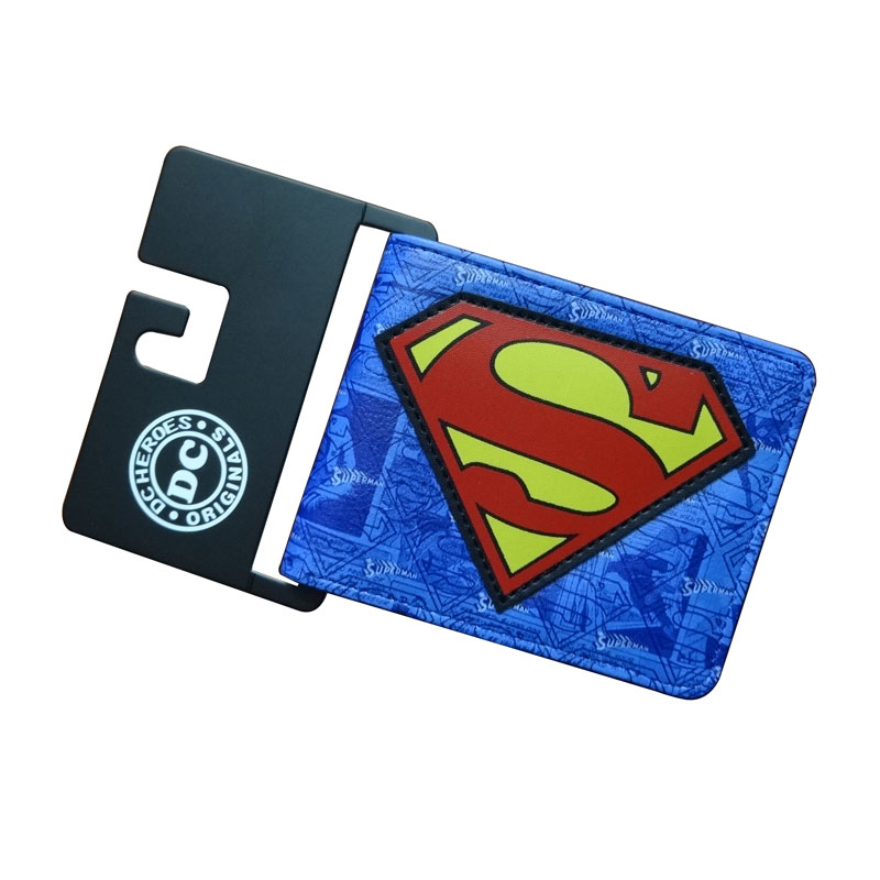 Comics DC Marvel Superman Purse Cartoon Anime Super Hero Batman Short Wallets carteira Quality Leather Money Holder Men Wallet купить