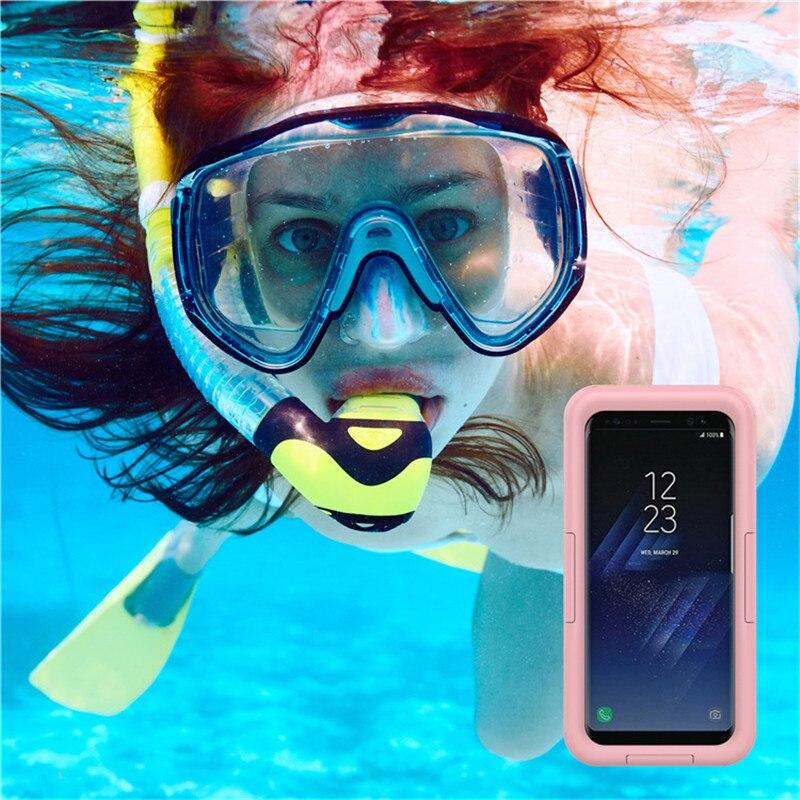 Waterproof Swimming Skiing Diving IP68 Phone Case TPU 6m Deep Water/Dirt/Shock Proof Phone Cover For Samsung Mobilephone