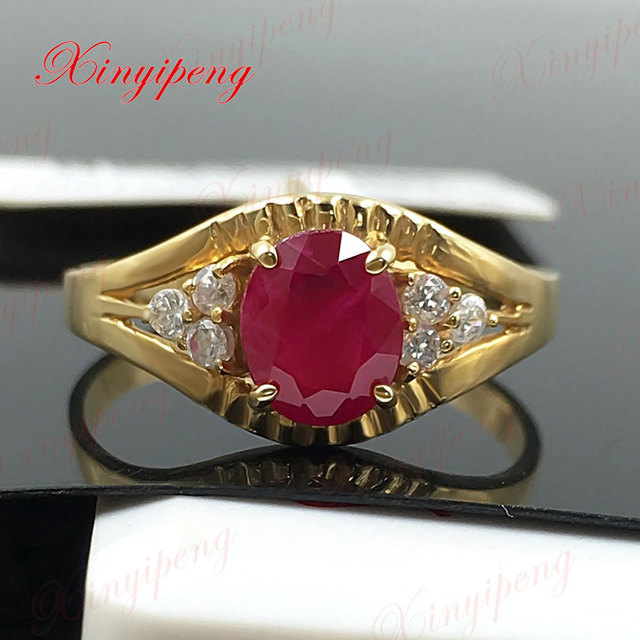 18 k gold, platinum natural ruby ring women give valuable color more than 1 carat gem The real thing to send mother 2