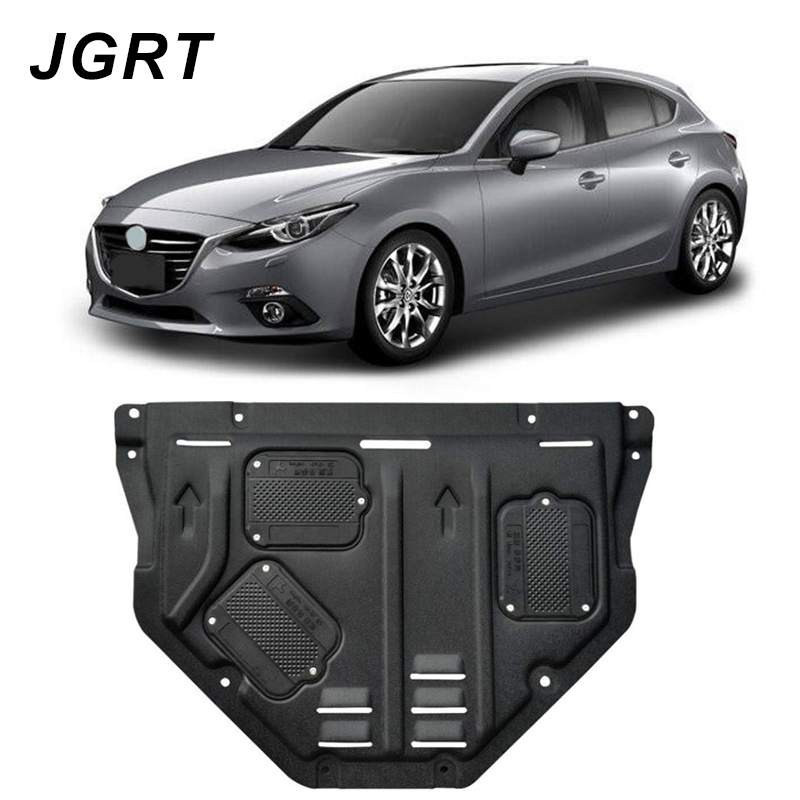 Car styling For <font><b>Mazda</b></font> Axela plastic steel <font><b>engine</b></font> guard For Axela 2014-2017 <font><b>Engine</b></font> skid plate fender 1pc image