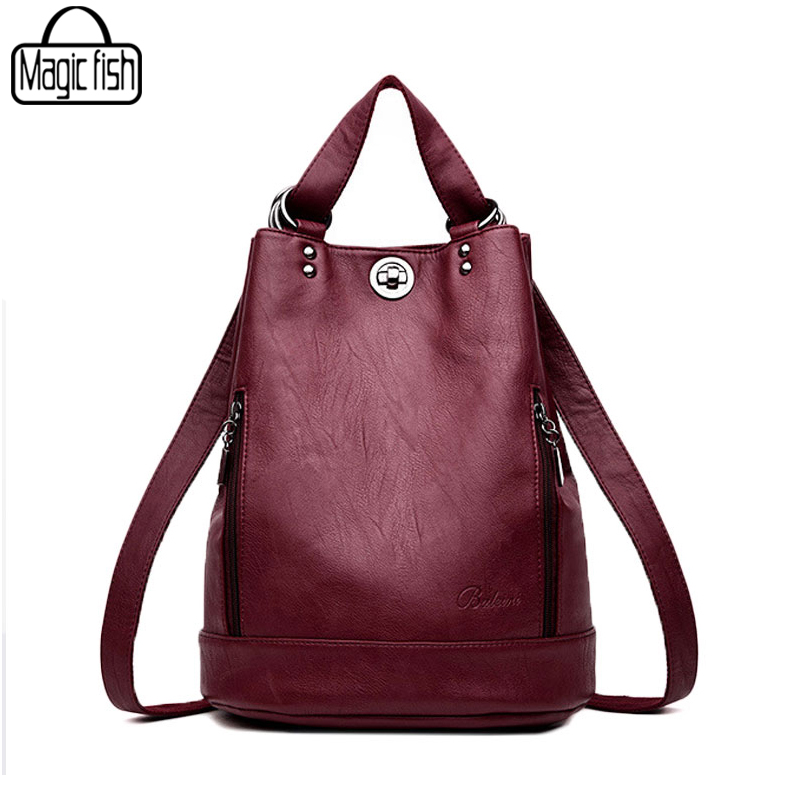 New 2018 High Quality Women Backpacks Famous Brands Fashion Lady Leather Backpack School Backpacks For Teenage Girls A3175/l