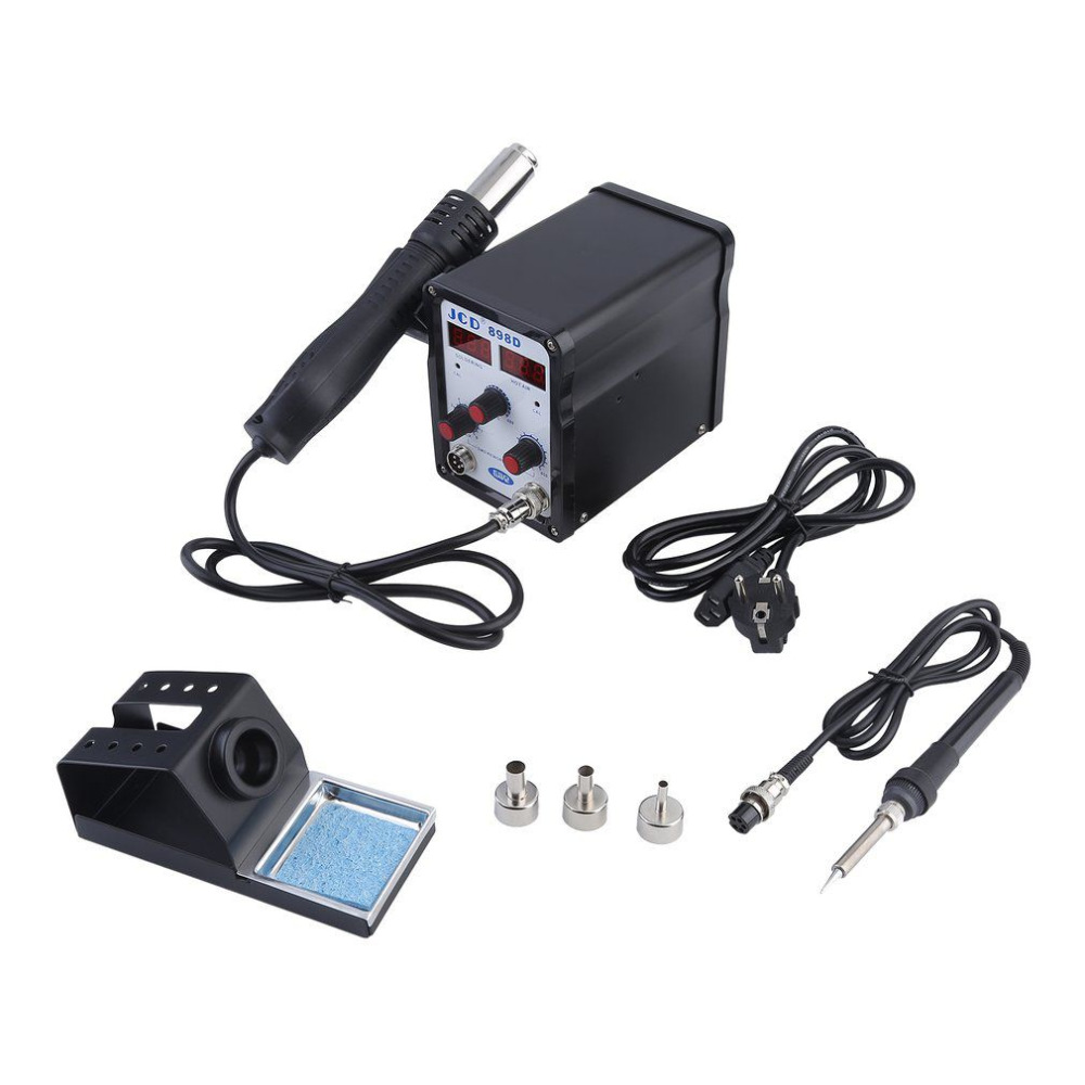 Welding Platform with Hot Air Gun Multifunctional Hot Air Welding Machine Set 2 In 1 Soldering Iron Platform EU Plug Quality 1pcs yl765 40w electric soldering iron soldering high quality heating diy tool parts lightweight soldering gun hot welding