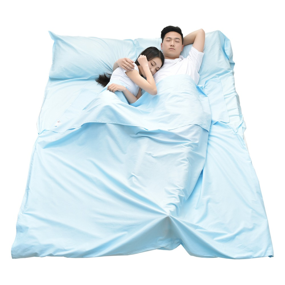 Naturehike factory sell new outdoor traveling single double adult Hotel anti dirty sleeping bag liner bed sheet