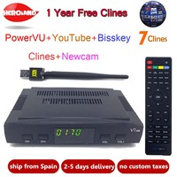 Original DVB S2 HD Freesat V7 Satellite TV Receiver WIFI Support PowerVu Biss Key Cccamd Newcamd