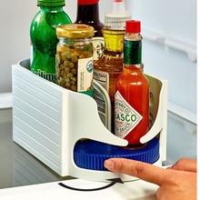 Food Storage Container Roller Rotating Box Bathroom Multi-function Rack Swivel Organizer Kitchen Plastic