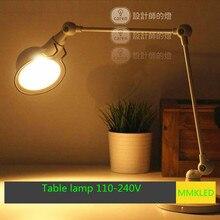 Лофт Американский ретро настольная лампа длинная рука робота стол свет работы промышленность творческий AC110-240V E14 лампы бесплатно