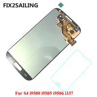 FIX2SAILING Super AMOLED LCD Display 100 Tested Working Touch Screen Assembly For Samsung Galaxy S4 I9500