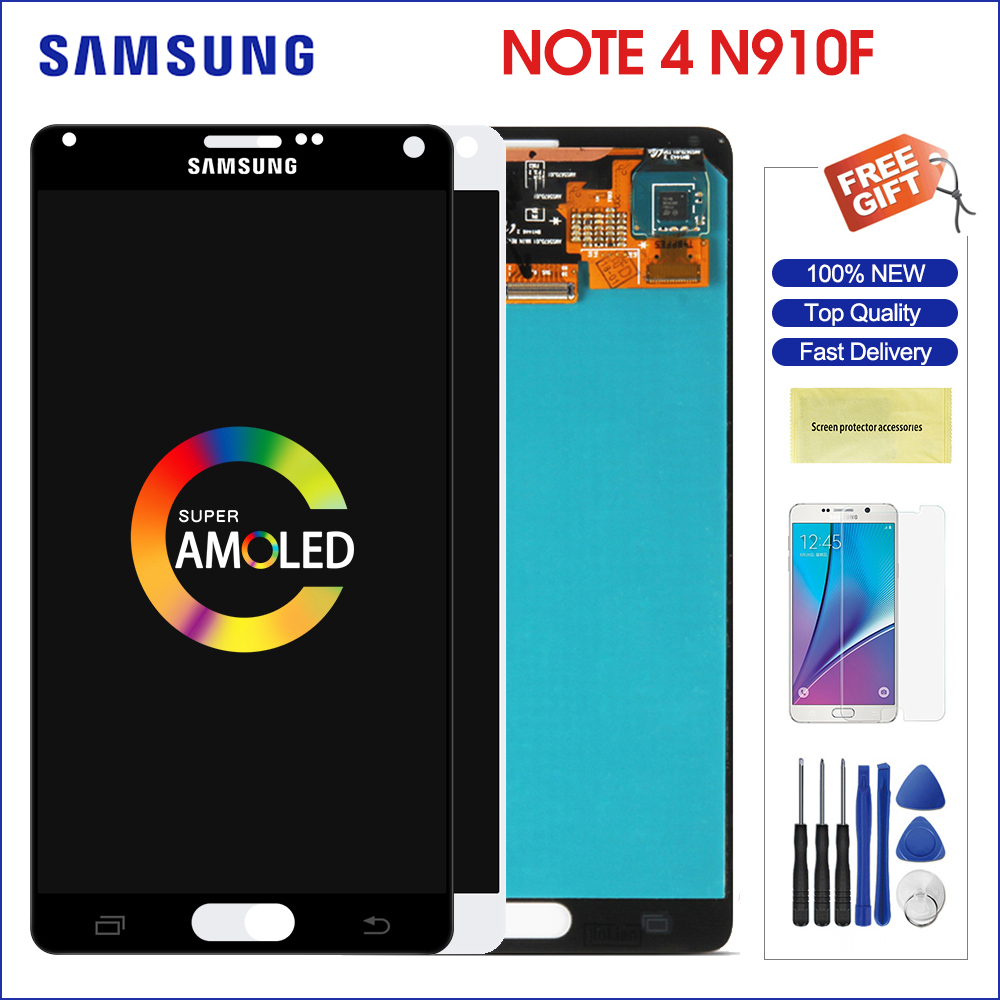 original <font><b>samsung</b></font> <font><b>note</b></font> <font><b>4</b></font> <font><b>display</b></font> super amoled for N910 N910A N910F <font><b>touch</b></font> <font><b>screen</b></font> <font><b>digitizer</b></font> assembly <font><b>LCD</b></font> N910C replacement image