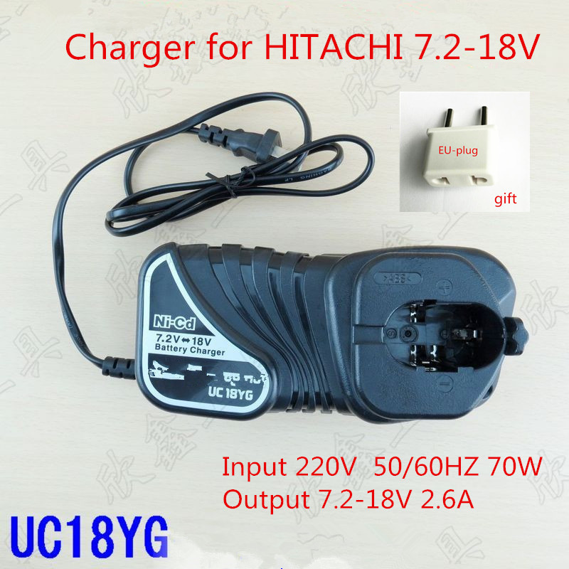 Charger UC18YG for HITACHI BCC1215 BCC1415 EB712S EB7S FEB7S EB714S EB7B EB914 EB9B EB924 EB1212S EB12S EB1220BL EB1224 EB1412S аккумулятор для hitachi bcc1215 eb1214l eb1214s eb1220bl eb1224 2000mah cameronsino