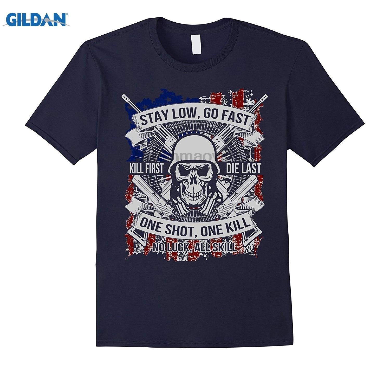 Возьмите Ветеран солдат рубашка-One Shot One Kill, не повезло все мастерство летнее платье футболка