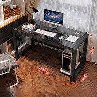 Простой современный компьютерный стол закаленное стекло компьютерный стол настольный домашний простой стол письменный стол