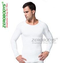 New Corset Men Shaper Posture Compression O- Neck Underwear Slim Long Sleeve Heater Fabric Corset Shapers Men S-XL  ZEROBODYS