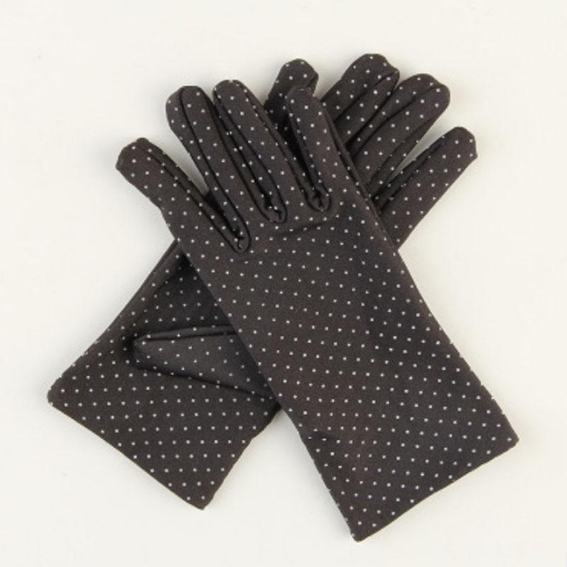 LNRRABC Summer Drive Women Sun Wrist Gloves & Mittens Dot Elastic Lady Girl Women's Fashion Gloves Drop Shipping