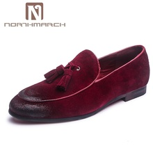 NORTHMARCH/мужские лоферы в винтажном стиле, элегантная обувь, мужские слипоны с кисточками, коричневые кожаные обувь для мужчин, Zapatos, Hombre De Vestir