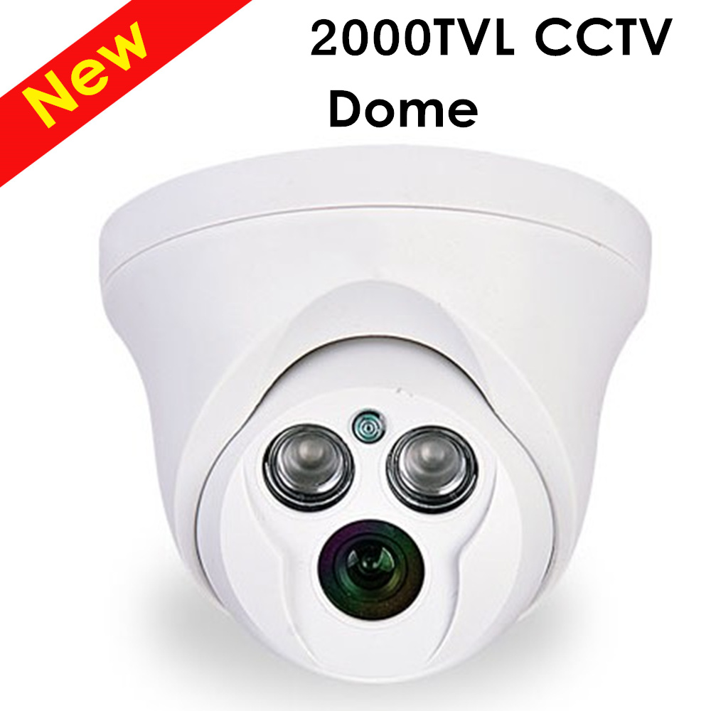 Mini Analog High Definition Surveillance 2000TVL Dome CCTV Camera HD Security Indoor IR 50M IR-Cut zea afs011 600tvl hd cctv surveillance camera w 36 ir led white pal
