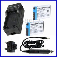 battery (2-pack) + charger for Kodak KLIC-7003, KLIC7003 and GE GB-40, GB40 Lithium Ion Rechargeable 3.7V 900MAH