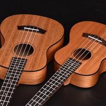 Tenor Ukulele Soprano Concert 21 23 26 Pulgadas Hawaiian Guitar 4 Cuerdas de Ukelele Guitarra Negro EdgeMahogany Uke Artesanía De Madera