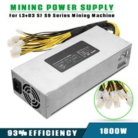 1800W Coin Mining Power Supply 93 For L3 D3 S7 S9 Antminer BTC Miner Machine High