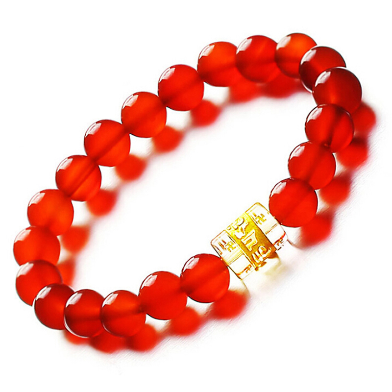 Red Bracelet Women Bracelet Elastic Line 8mm beads Bring lucky