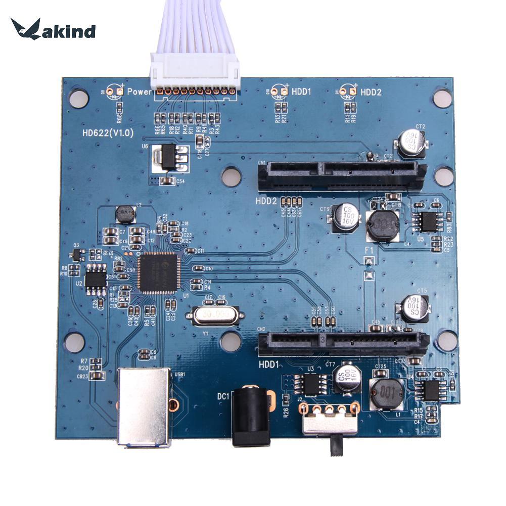 USB 3.0 zu Dual SATA Adapter Karte für 2,5 oder 3,5 zoll HDD SSD Mit USB 3.0 Stromkabel 5 Gbps Hohe Qualität