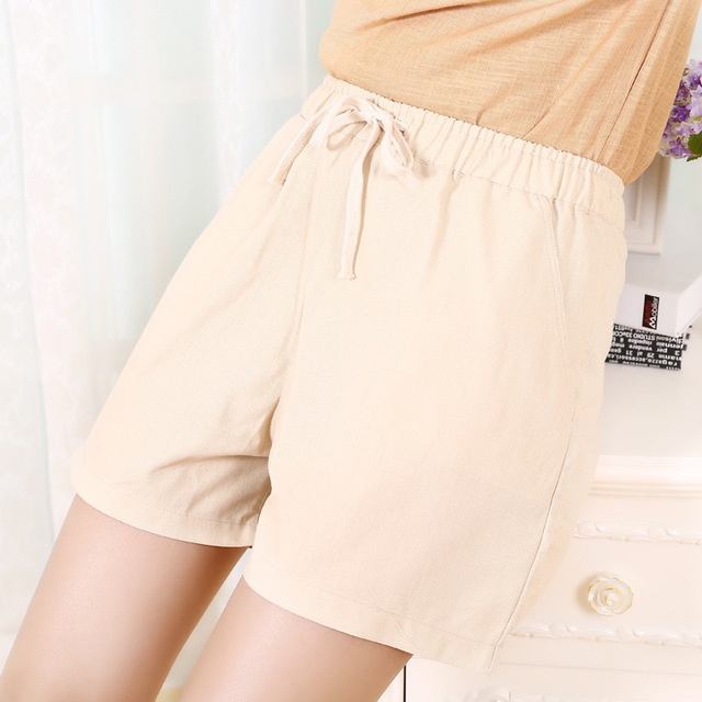 Danjeaner S-2XL Shorts Feminino Women Casual Fashion Candy Color Wide Leg Shorts Plus Size Loose Leisure Drawstring Shorts 6