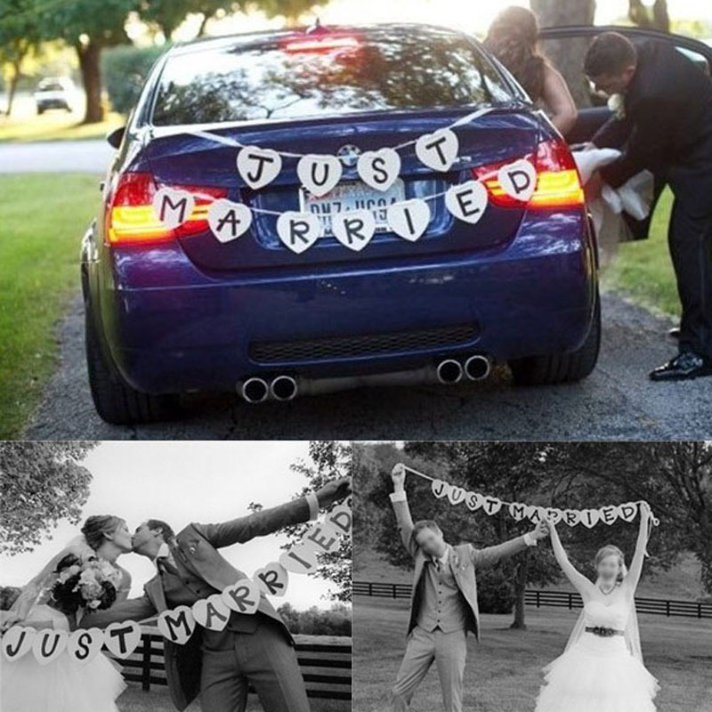 Marry Wedding Decoration Party Banner Bunting Garland Handmade