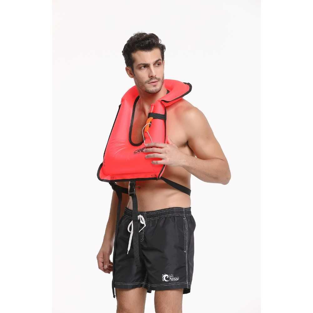 Cressi şişme can yeleği can yeleği Şnorkel Yüzme Balikçilik Mayo Su Sporları Survival Ceket