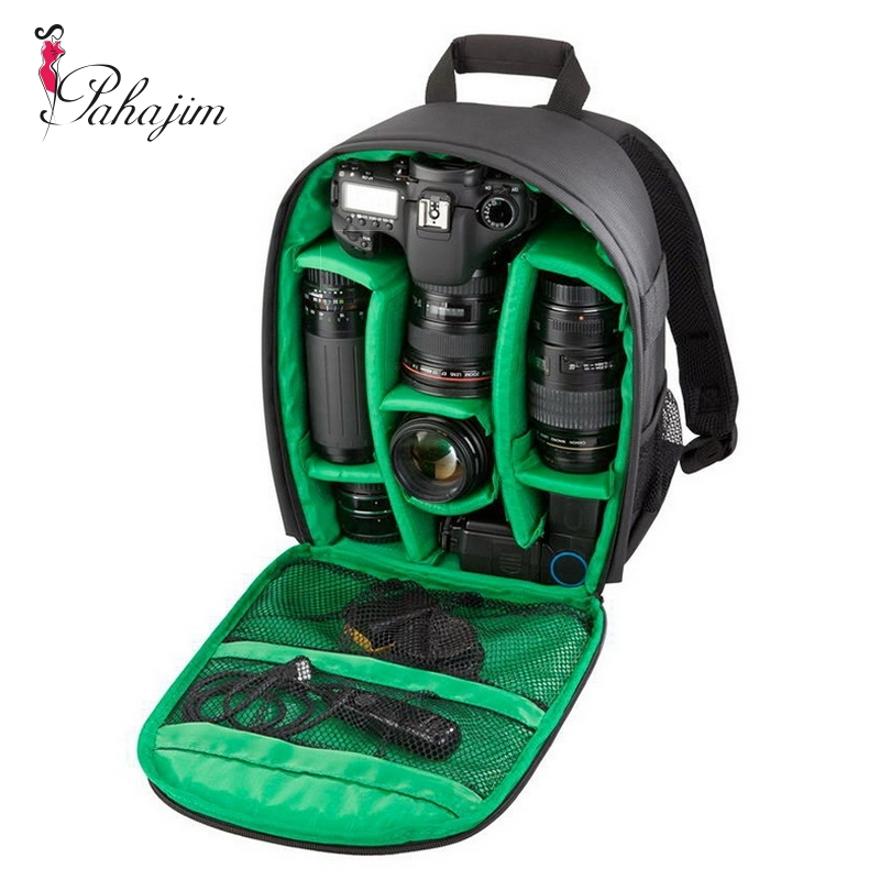 Pahajim Video Photo Digital Camera Shoulders Padded Backpack Bag Case Waterproof Shockproof Small Bags for Canon Nikon