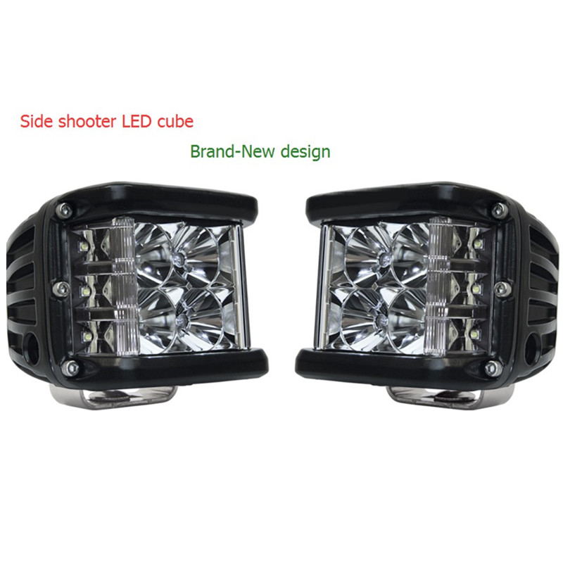 2 x 45W Side Shot Pod Cubes LED's LED Work Light Off Road Led Light Driving Light UTV RZR Truck for Jeep Wrangler teak house тумба java 145