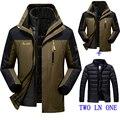 2016 зима Новый мужской/женский жакет водонепроницаемый ветрозащитный теплую куртку пальто мужские случайные куртка пальто размер M-4XL5XL6XL