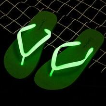 2019 Summer Luminous Beach Slippers Holiday Lightweight Casual Flat Flip Flops Soft PVC Non-slip Shinny Slipper