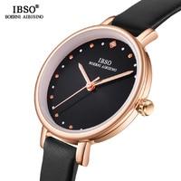 IBSO 8 MM Das Mulheres Relógios de Quartzo Ultra Fino Relógio de Pulso Horas Femininos de Luxo de Moda Relógio de Quartzo Relogio Montre Femme feminino Relógios femininos     -
