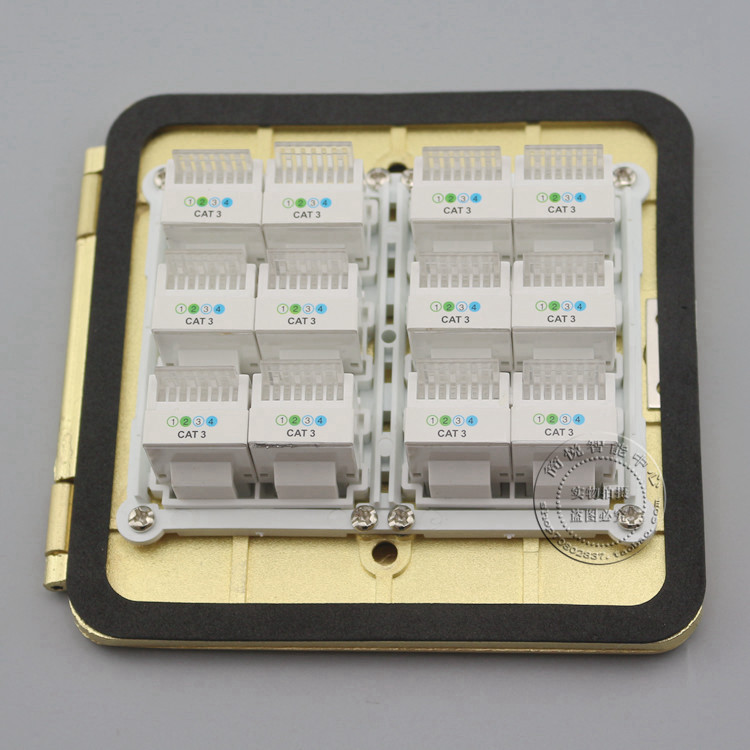 Wall Plate 12 Ports RJ11 Cat3 Telephone Socket Floor Ground Outlet Flip Type Floor Socket atlantic brand double tel socket luxury wall telephone outlet acrylic crystal mirror panel electrical jack