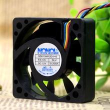 ADDA G5015M12D1+ 6 автомобильный аудио Вентилятор охлаждения DC 12 В 0.2A 5015 50*50*15 мм 5 см 4 провода