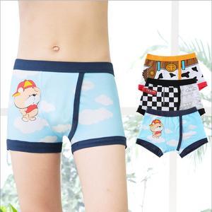 Image 3 - Verão 2017 Meninos Cueca Crianças Underwears Algodão de Alta Qualidade Shorts Calcinhas Para Meninos Boxer Adolescente 90 175cm 3 pçs/lote