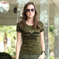 Algodón de Las Mujeres T Shirt Marca Tops Camiseta Militar de Manga Corta Camisetas Ropa Casual Anti-Mosquitos de Verano T Camisa de la Mujer Gs-8533A
