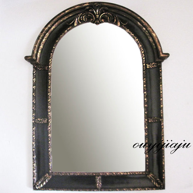 large big decorative cosmetic antique wall bathroom mirror with ...
