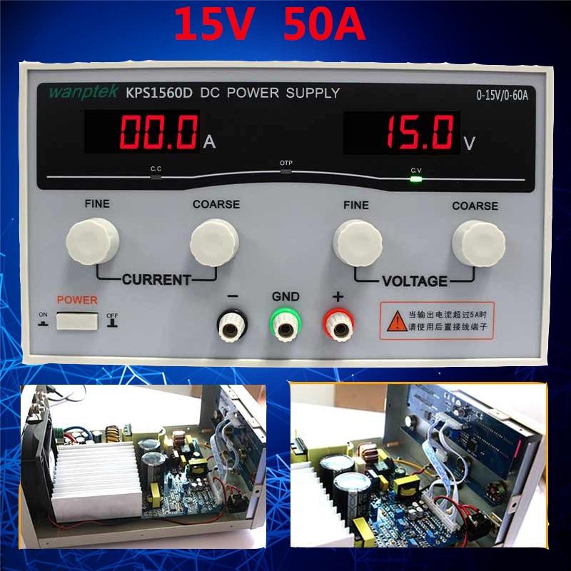 High Stability Adjustable Display DC power supply 15V 60A High Power Switching power supply Voltage Regulators rps3020d 2 digital dc power adjustable power 30v 20a power supply linear power notebook maintenance
