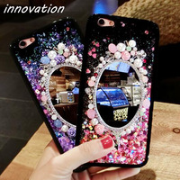 Innovation Glitter Quicksand Cover For IPhone 7 6 6S Plus Phone Back Cases Dynamic Liquid Mirror