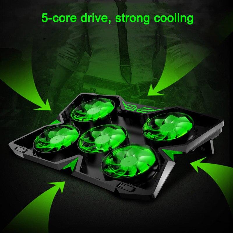 Laptop PC Heatsink Cooling Pad Quite Fans Rapid Cooler Gaming Low Noise Anti-slip XXM8