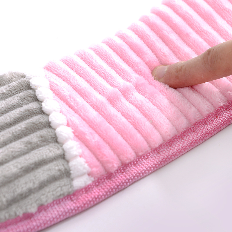 Image 5 - 38cmX43cm Velvet leather Washable Soft Toilet Cushion Toilet Mat Thick Knitted Bathroom Accessories Standard Toilet Seat Cover-in Toilet Seat Covers from Home & Garden