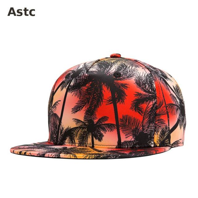 156ac585e24 2016 New Snapback Cap Casual Hawaii Style Baseball Cap Hiphop Bboy Rap Hats  Flat 3d Print