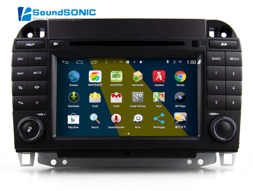 for mercedes s class w220 w215 touch screen android 4 4. Black Bedroom Furniture Sets. Home Design Ideas