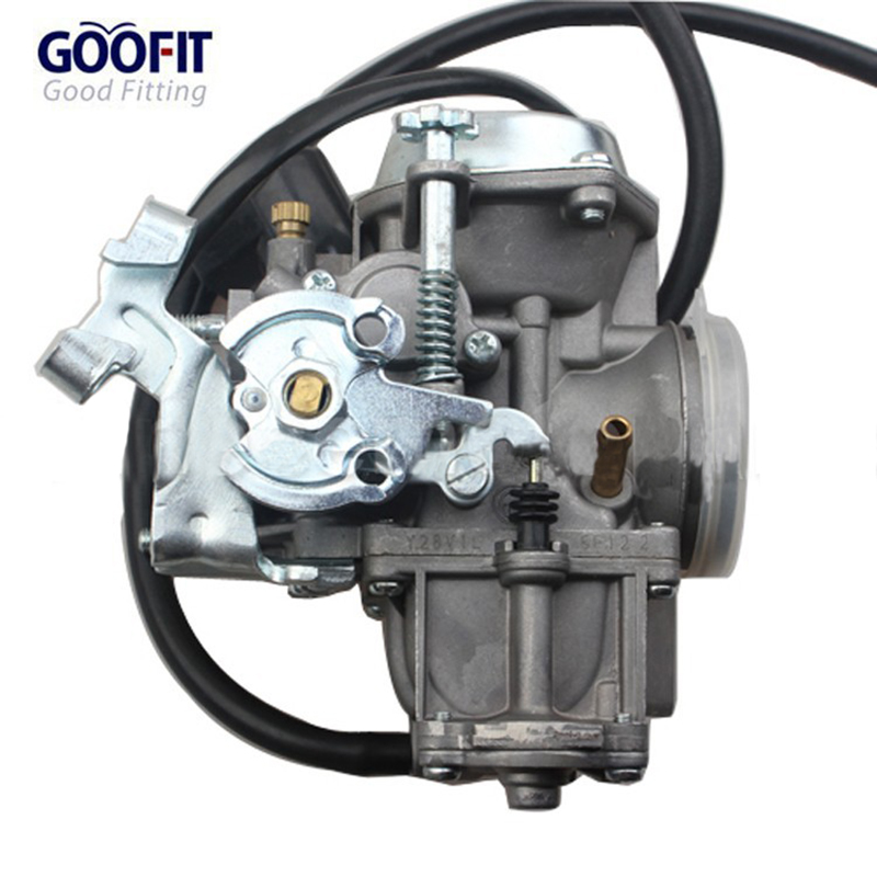 GOOFIT 31mm Carburetor Assembly with Electric Choke  for Yamaha Majesty 250 ATV Scooter Moped with flange connector 2 pins partol car carburetor empi 34 pict 3 electric choke fuel cutoff valve for volkswagen super beetle thing karmann ghia squareback