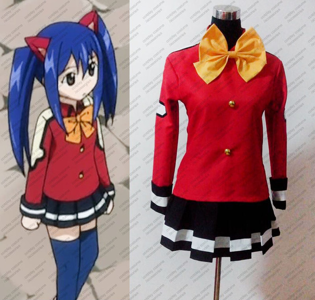 Fairy Tail Wendy Marvell Cosplay Costume Full Set Tailor Made In